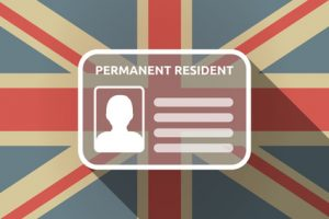 Permanent Residence Document is only valid in the UK