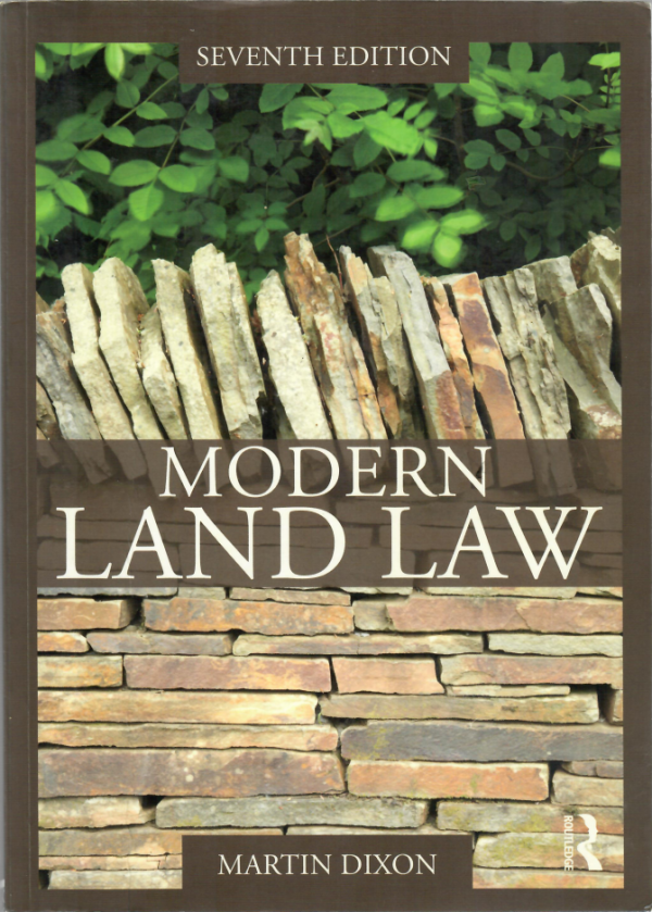 Modern Land law by Martin Dixon - Seventh edition front