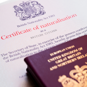 Application for naturalisation as well as registration as a British citizen
